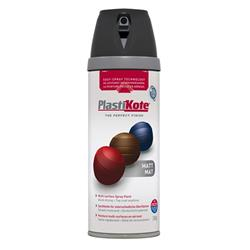 Plastikote 23101 Twist & Spray Matt 400ml Black