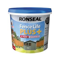 Ronseal  Ronseal Fence Life Plus+ Slate 5 Litre