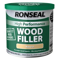 Ronseal HPWFN550G High Performance Wood Filler Natural 550g