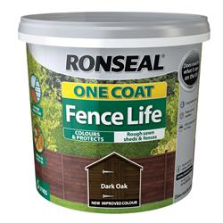 Ronseal OCFLDO5L One Coat Fence Life Dark Oak 5L