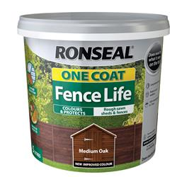 Ronseal OCFLMO5L One Coat Fence Life Medium Oak 5L