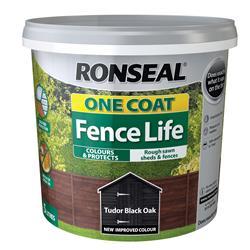 Ronseal OCFLTBO5L One Coat Fence Life Tudor Black Oak 5L