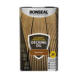 Ronseal UDONC5L Utlimate Decking Oil Natural Cedar 5L