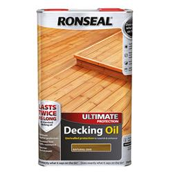 Ronseal UDONO5L Utlimate Decking Oil Natural Oak 5L