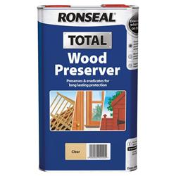 Ronseal WPCL5L Total Wood Preserver Clear 5L