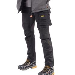 Snickers 62410404 Snickers AllroundWork Stretch Trouser with Holster Pockets - Black