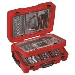 Teng Tools Portable Service Case Complete with Spanners, Screwdrivers & Pliers Set