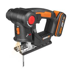 Worx WX550.2 20v MAX 2-in1 Recip / Jigsaw Multipurpose Saw with 1 x 2Ah Battery and Charger