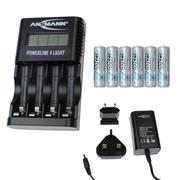 Ansmann 10010011PK6 Powerline 4 Light - 6 x 2500mAh AA Batteries