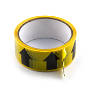 Hayes 662032 Hayes UK ID Tape Arrows (Black/Yellow) 38mm x 33m