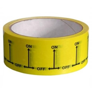 Hayes 662037 Hayes UK ID Tape On/Off (Black/Yellow) 38mm x 33m