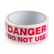 Hayes 662041 Hayes UK ID Tape Danger Do Not Use (Red/White) 38mm x 33m