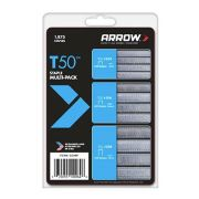 Arrow AT50MP Arrow Assorted Sizes T50 Staples - Pack of 1875