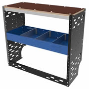 Autorack HD-WB-WA-BLU HD-WB-WA-BLU Heavy Duty Van Racking System Workbench