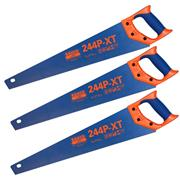 "Bahco 244P22XTHPPK3 Blue 244 Universal Handsaw 550mm/22"" - Pack of 3"