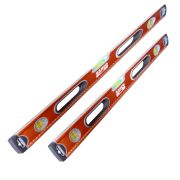 Bahco 6201PACK2 Bahco 1200mm & 1800mm Box Spirit Level Pack 2