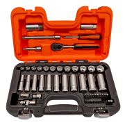 Bahco S330L 1/4'' & 3/8'' Square Drive Deep 53 Piece Socket Set