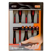 Bahco BE-9882S VDE Ergo Slotted/PZ Screwdriver 5 Piece Set