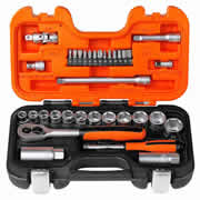 "Bahco S330 1/4"" & 3/8"" Square Drive 34 Piece Socket Set"