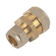 Unbranded BCC22/15 22mm x 15mm Compression Coupling - Pack of 10