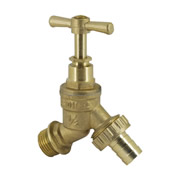 "Unbranded BIBHUBT1/2 1/2"" Brass Hose Union Bib Tap - Pack of 5"