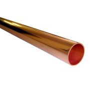 Unbranded CU015X2TX1 15mm 2 Metre Copper Tube - Single