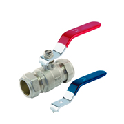 Professional LBV22 Lever Valve 22mm Red/Blue