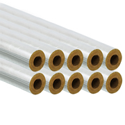 Professional PI15/25FOILPK10 15/25mm Foil Pipe Insulation 1m - Pack of 10