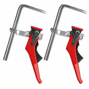 Bessey All-Steel Table Clamp With Lever Handle Twinpack