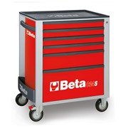 Beta C24S/6 Beta C24S/6-R-Mobile Roller Cab 6 Drawers Red