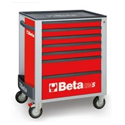 Beta  Beta C24S/7-R-Mobile Roller Cab 7 Drawers Red