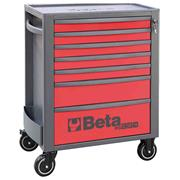 Beta  Beta RSC24/7 MobileRollerCabinet with7 Drawers - Red