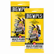 Big Wipes 2414PK2 Big Wipe 4x4 Multi Purpos 40 Wipe Sachet - Twinpack