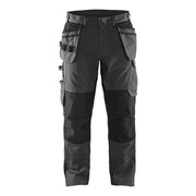 Service Trousers with Stretch & Nail Pockets - Mid Grey/Black
