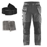 Blaklader 1496MGBKKIT Blaklader Service Trouser with Stretch and Nail pockets Kit - Mid Grey/Black