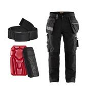 Blaklader 159040044027BK Craftsman Trousers with Stretch Kit - Black