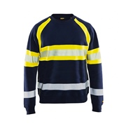 Blaklader 335911588933 Blaklader Hi-Vis Sweater - Navy/Yellow