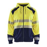 Blaklader 354625283389 Blaklader Hi-Vis Hooded Sweater - Yellow/Navy