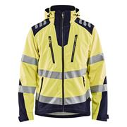 Blaklader  Blaklader Hi-Vis Softshell Jacket - Yellow/Navy Blue