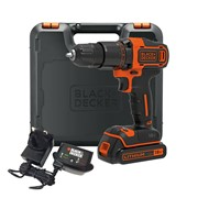 Black & Decker BCD700S1K 18v Combi Drill with 1 x 1.5Ah Batteries, Charger and Case