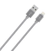 Belkin F8J144bt04-GRY Belkin Premium Tangle-Free Metallic Lightning to USB Cable