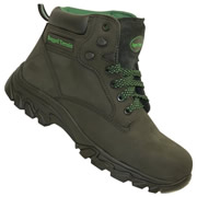 Rugged Terrain RT1005B 'Waterproof' Hiker Safety Boot (Black/Green)