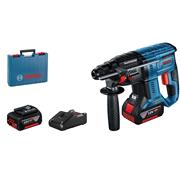 Bosch  Bosch GBH 18V-21 18V Brushless SDS+ Rotary Hammer Drill, 2x 4.0Ah Batteries, Charger & Case