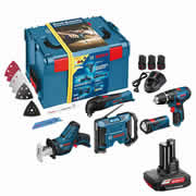 Bosch 108GSBGMLFIVE Bosch 10.8v Li-ion Cordless 5 Piece Monster Kit