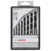 Bosch 2607010533 Bosch 8 Piece Brad Point Drill Bit Set