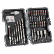Bosch 2607017327 35 Piece PRO Mixed Screwdriver & Drill Bit Set for Wood