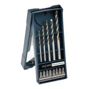 Bosch 2608522370 14 Piece Screwdriver & Multi-Construction Drill Bit Set