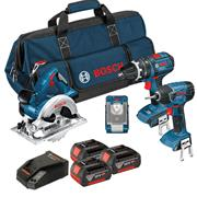 Bosch BAG4DS Bosch 18V Li-ion Dynamic Series 4 Piece Kit