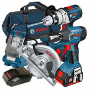 Bosch BAG4RS Bosch 18v 4 Piece Kit in Bag
