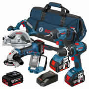 Bosch BAG5DSA Bosch 18v Li-ion Dynamic Series 5 Piece Kit